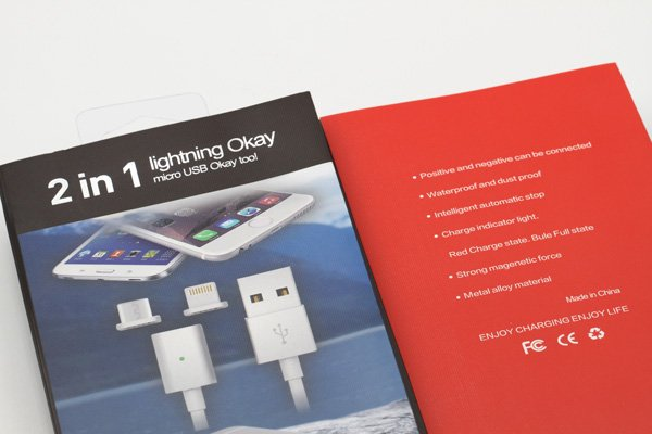 【ネコポス送料無料】iPhone / Android 対応 マグネットケーブル 充電&同期可能 全3色 [6]