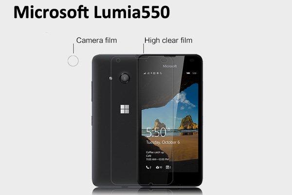 【ネコポス送料無料】Microsoft Lumia 550 液晶保護フィルムセット クリスタルクリアタイプ [1]