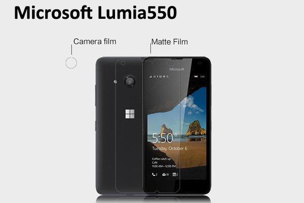 【ネコポス送料無料】Microsoft Lumia 550 液晶保護フィルムセット アンチグレアタイプ  [1]