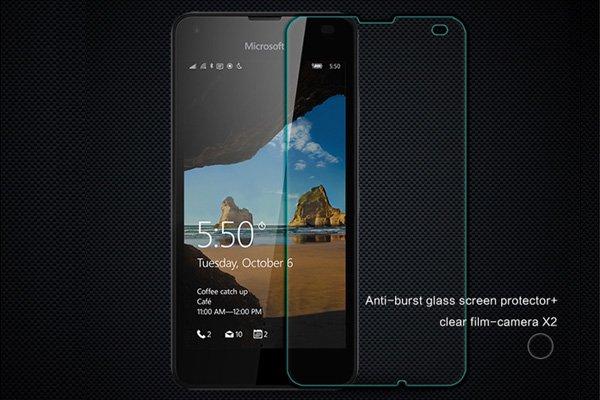 【ネコポス送料無料】Microsoft Lumia 550 強化ガラスフィルム ナノコーティング 硬度9H [1]