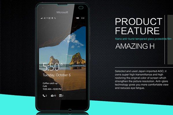 【ネコポス送料無料】Microsoft Lumia 550 強化ガラスフィルム ナノコーティング 硬度9H [2]