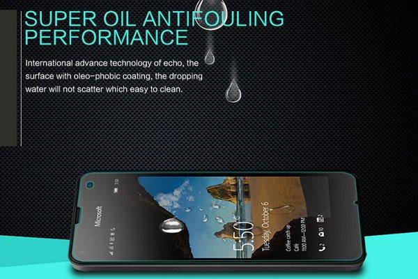 【ネコポス送料無料】Microsoft Lumia 550 強化ガラスフィルム ナノコーティング 硬度9H [5]