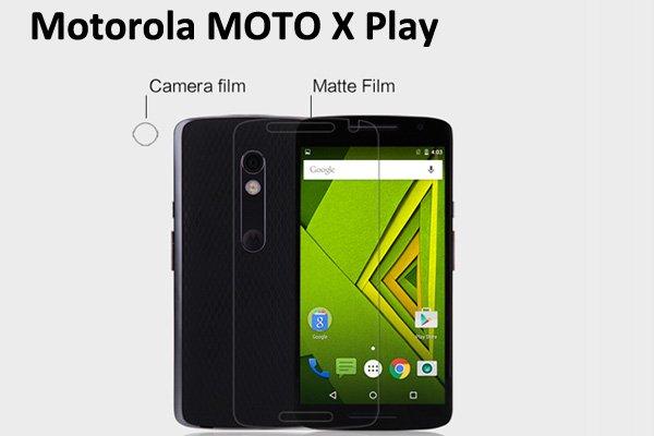 【ネコポス送料無料】 Motorola Moto X Play 液晶保護フィルムセット アンチグレアタイプ  [1]