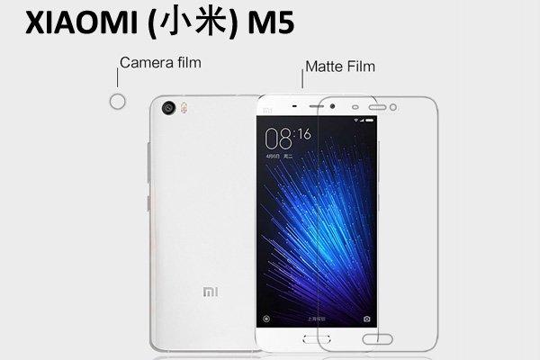 【ネコポス送料無料】XIAOMI(小米) Mi5 液晶保護フィルムセット アンチグレアタイプ [1]