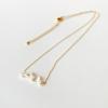 チャーム付き 6パールネックレス - 6 Pearl Necklace(品番:ES-11)
