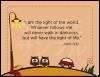 御言葉カード「りとるしーど」 ヨハネ8:12 (表裏日英対訳)
