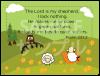 御言葉カード「りとるしーど」 詩篇23:1、2 (表裏日英対訳)
