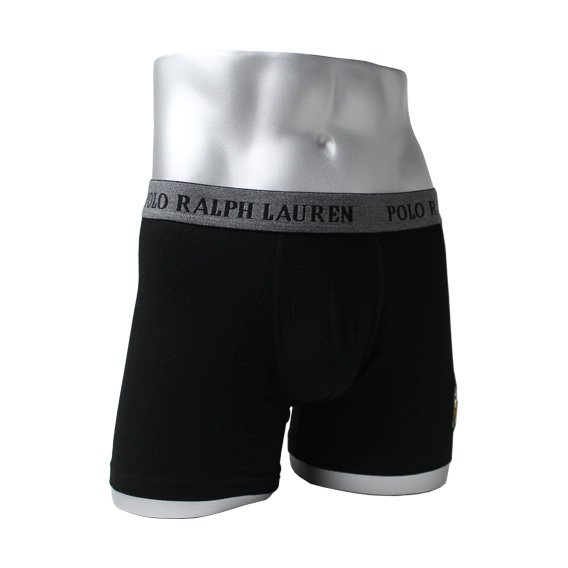 ポロラルフローレン :POLO RALPH LAUREN STRETCH POUCH BOXER BRIEF (ブラック)
