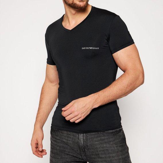 エンポリオアルマーニ:ESSENTIAL MICROFIBER Tシャツ(ブラック)