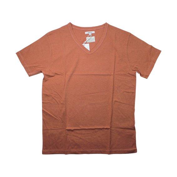 トランクイル:TRANQUIL VネックTシャツ (オレンジ)