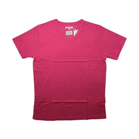 トランクイル:TRANQUIL VネックTシャツ (ピンク)