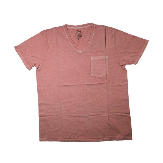 ルフト:TOMEPKINS VネックTシャツ(LUFT-T-02)ピンク