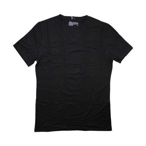ブレッド&ボクサーズ:BREAD&BOXERS MEN'S V-NECK (ブラック)