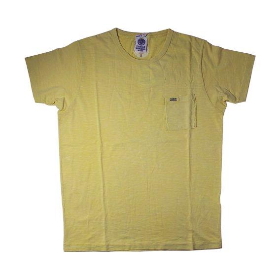 フランクリン&マーシャル:ポケット付半袖Tシャツ (イエロー)