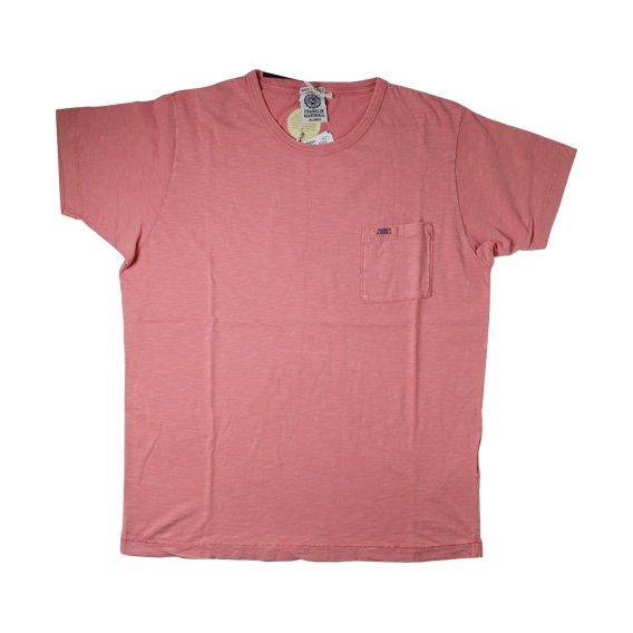 フランクリン&マーシャル:ポケット付半袖Tシャツ (ピンク)