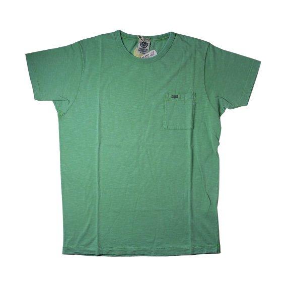 フランクリン&マーシャル:ポケット付半袖Tシャツ (グリーン)