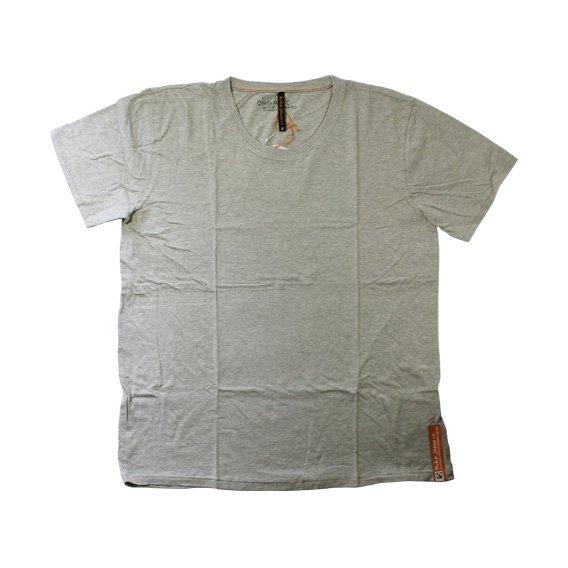 ヌーディージーンズ:ORGANIC COTTON ROUND NECK Tシャツ(グレー)