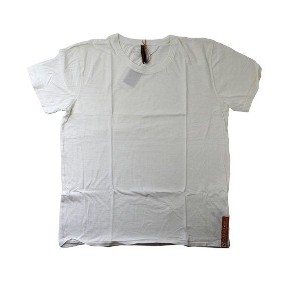 ヌーディージーンズ:NUDIE JEANS ORGANIC COTTON ROUND NECK T-SHIRT(ホワイト)