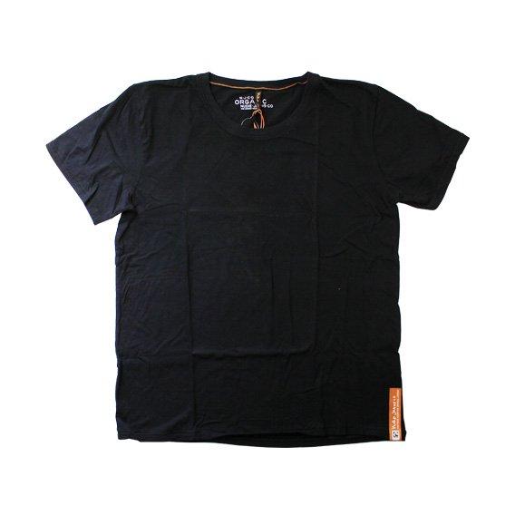 ヌーディージーンズ:NUDIE JEANS ORGANIC COTTON ROUND NECK T-SHIRT(ブラック)