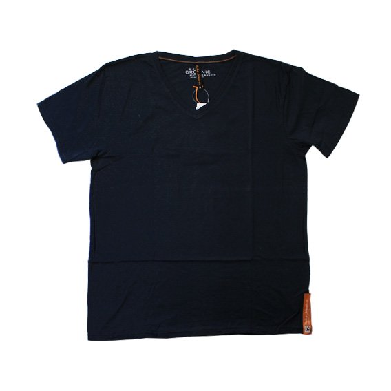 ヌーディージーンズ:NUDIE JEANS ORGANIC COTTON V-NECK T-SHIRT(インディゴ)
