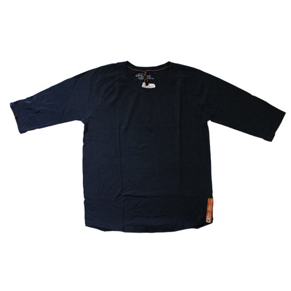 ヌーディージーンズ:NUDIE JEANS ORGANIC COTTON QUARTER SLEEVE TEE(インディゴ)