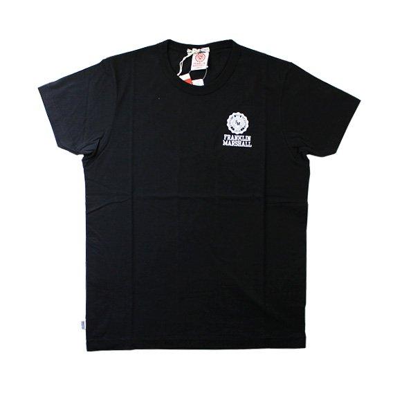 フランクリン&マーシャル:ワンポイントエンブレム ROUND NECK Tシャツ (ブラック)