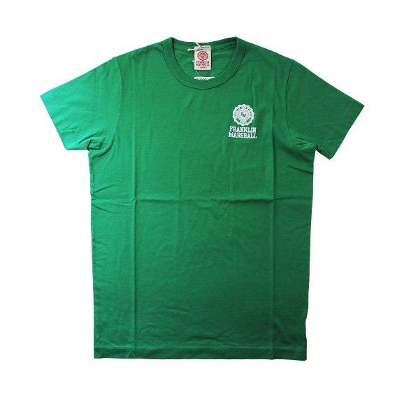 フランクリン&マーシャル:ワンポイントエンブレム ROUND NECK Tシャツ (グリーン)