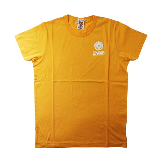 フランクリン&マーシャル:ワンポイントエンブレム ROUND NECK Tシャツ (イエロー)