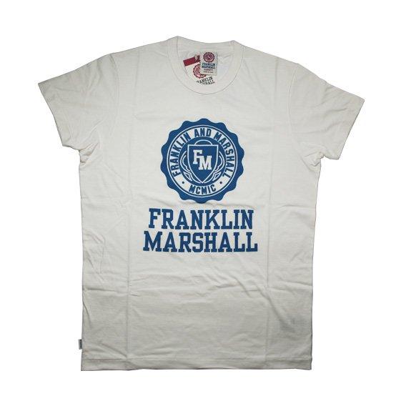 フランクリン&マーシャル: TSHIRT JERSEY ROUND NECK SHORT (ホワイト)