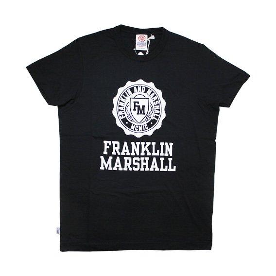フランクリン&マーシャル: TSHIRT JERSEY ROUND NECK SHORT (ブラック)