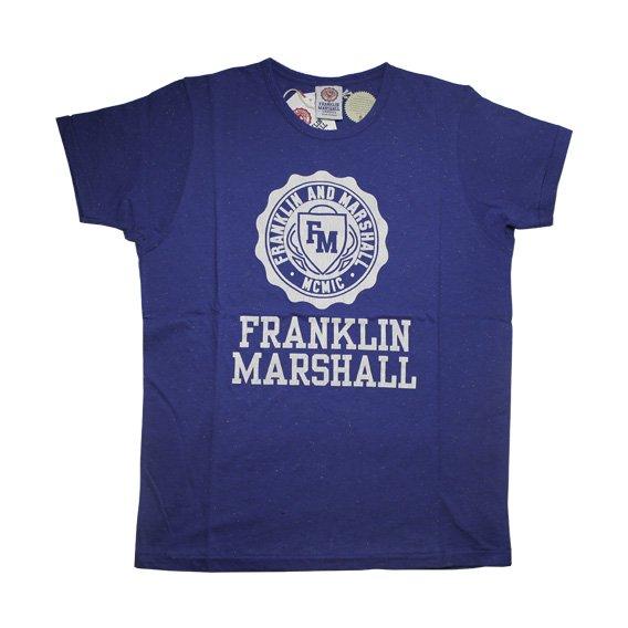 フランクリン&マーシャル: TSHIRT JERSEY ROUND NECK SHORT (ブルー)