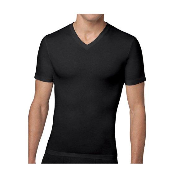 スパンクス:COTTON COMPRESSION V-NECK (ブラック)