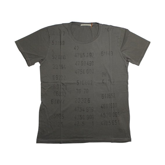 ヌーディージーンズ:NUDIE JEANS ROUND NECK T-SHIRT(MUD)