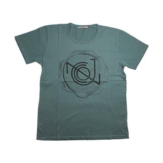 ヌーディージーンズ:ROUND NECK Tシャツ(PETROL)