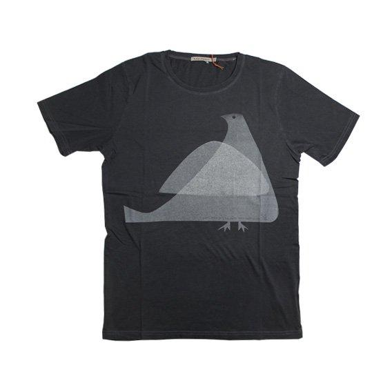 ヌーディージーンズ:ROUND NECK Tシャツ(ブラック)
