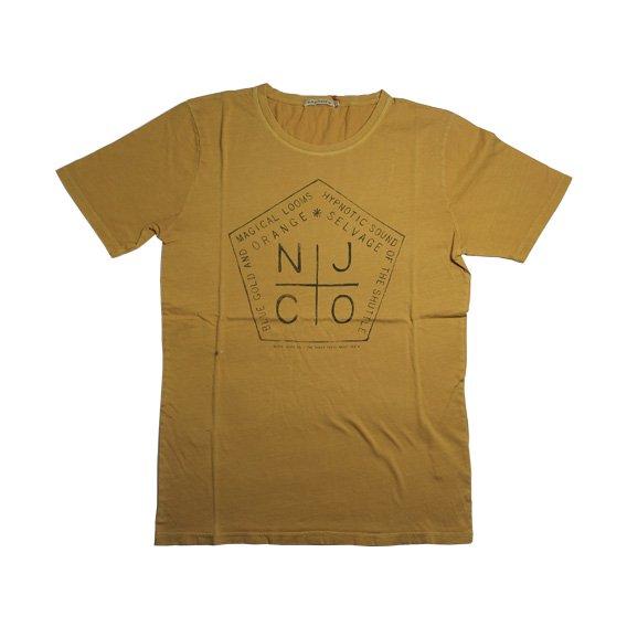 ヌーディージーンズ:ROUND NECK Tシャツ(イエロー)