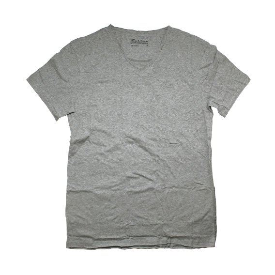 ブレッド&ボクサーズ:BREAD&BOXERS MEN'S RELAXED VNECK SHIRT (グレー)
