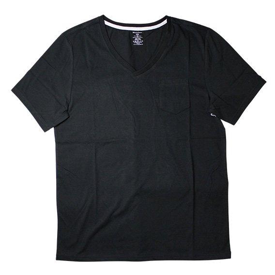 ブレッド&ボクサーズ:SUEDED JERSEY V-NECK (ブラック)