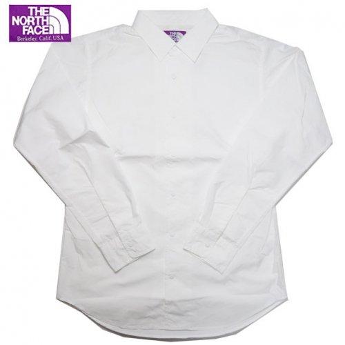 ノースフェイス パープルレーベル ナナミカ COOLMAX Typewriter Shirt 無地 長袖シャツ NT3625N