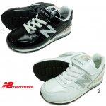 ニューバランス NEW BALANCE YV996 ブラック ホワイト エナメル キッズ ジュニア スニーカー 靴