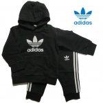 adidas アディダス オリジナルス  スウェット パーカー パンツ INFANT TREFOIL HOODIE 上下 2点セット ベビー キッズ FUH79