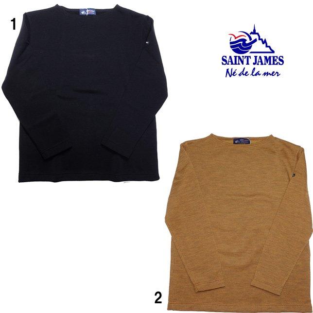 SAINT JAMES セントジェームス ダブルフェイス セーター ニット 無地 ボートネック メンズ レディース
