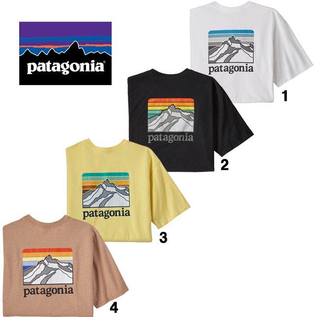 パタゴニア メンズ ライン ロゴ リッジ ポケット レスポンシビリティー 38511 patagonia メンズ ポケ付き プリントTシャツ