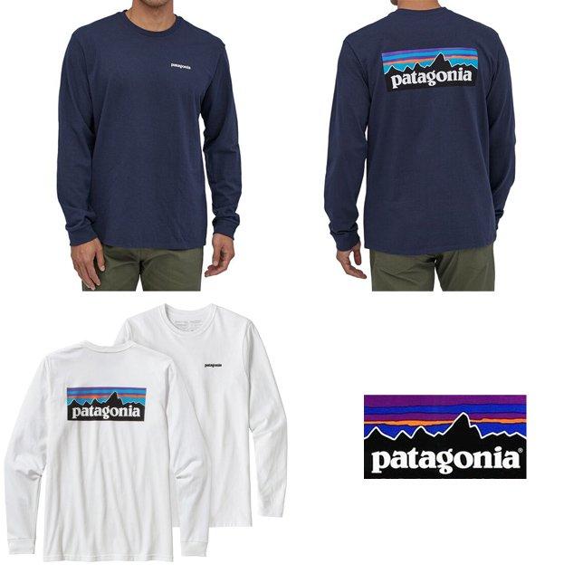 長崎県佐世保市パタゴニア メンズ ロングスリーブ P-6 ロゴ レスポンシビリティー 長袖 Tシャツ ロンT 38518 PATAGONIA