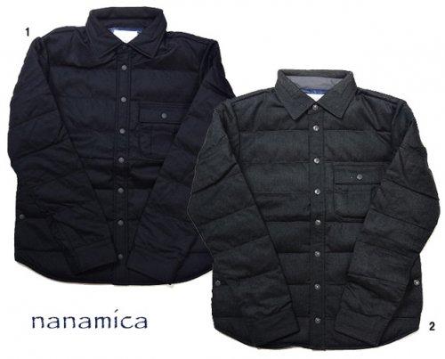 nanamica ナナミカ ダウンシャツ ウール ダウンシャツジャケット メンズ 光電子