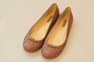 (9336) 【その他】 ボッテガヴェネタ イントレチャート バレエシューズ サイズ35(22�) [靴]