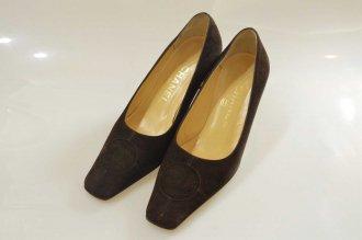 (9418) 【シャネル】 シャネル ココマーク スエード パンプス 靴 [靴]