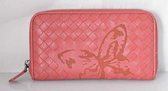 (1493) 【ボッテガ】 ボッティガヴェネタ ラムスキン ラウンドジップ 限定 パピヨン 長財布 [財布]