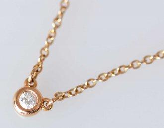 (6005) 【ティファニー】 ティファニー バイザヤード 750ピンクゴールド ネックレス  [ブランドジュエリー]