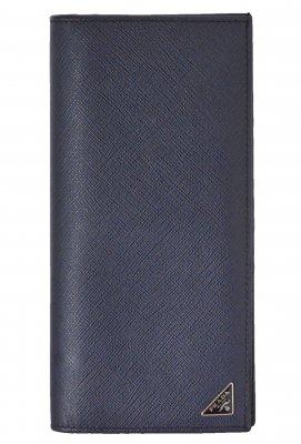 (6116) 【プラダ】 プラダ PRADA 2МV836 サフィアーノ 二つ折り長財布 三角ロゴ [財布]